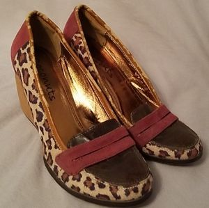 Coconuts Groove Leopard Wedges